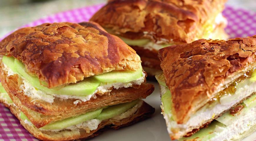Рецепт Творожный сэндвич-слойка