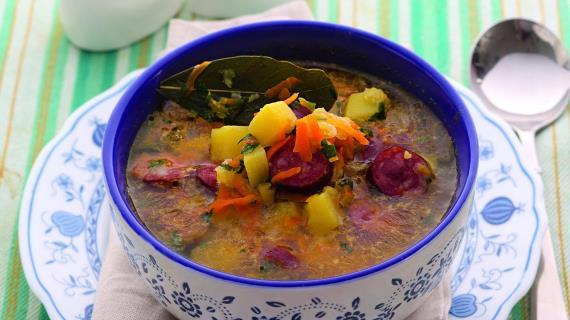 рецепт горохового супа с рулькой копченой с фото