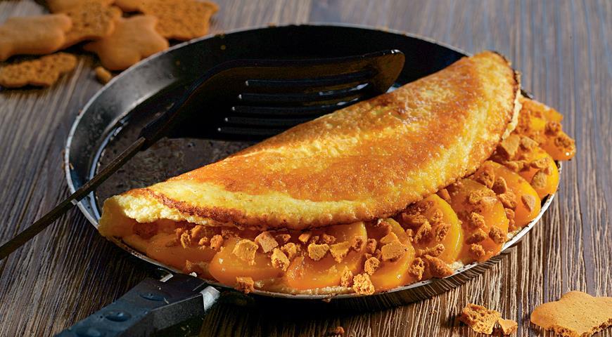 Рецепт Воздушный омлет с персиками и имбирем