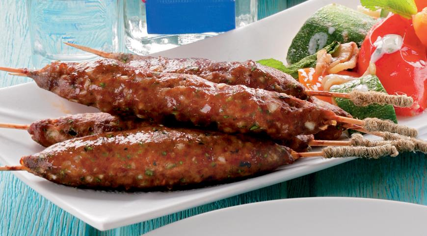Рецепт Люля-кебабы из баранины с зеленью
