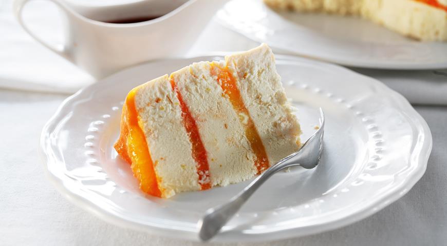 Рецепт Творожная пасха с апельсиновым желе и соусом из кагора