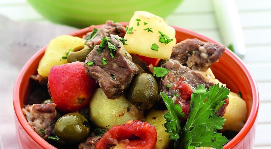 Рецепт Баранина, тушенная с картофелем