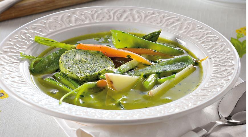 Суп из свежих овощей на летнем бульоне, пошаговый рецепт с фото