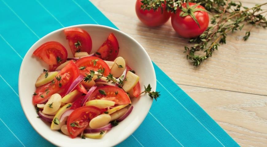 рецепт салат а из белой фасоли