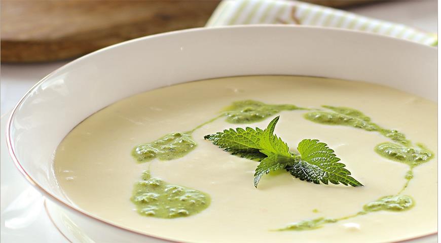 Рецепт Суп из фенхеля со сливочной крапивой