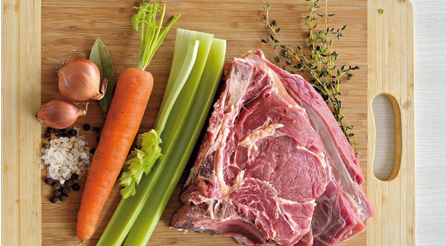 Рецепт Мясной бульон с травами
