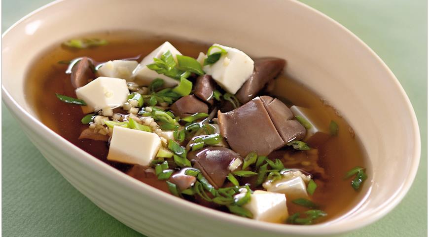 Рецепт Китайский суп из почек с тофу