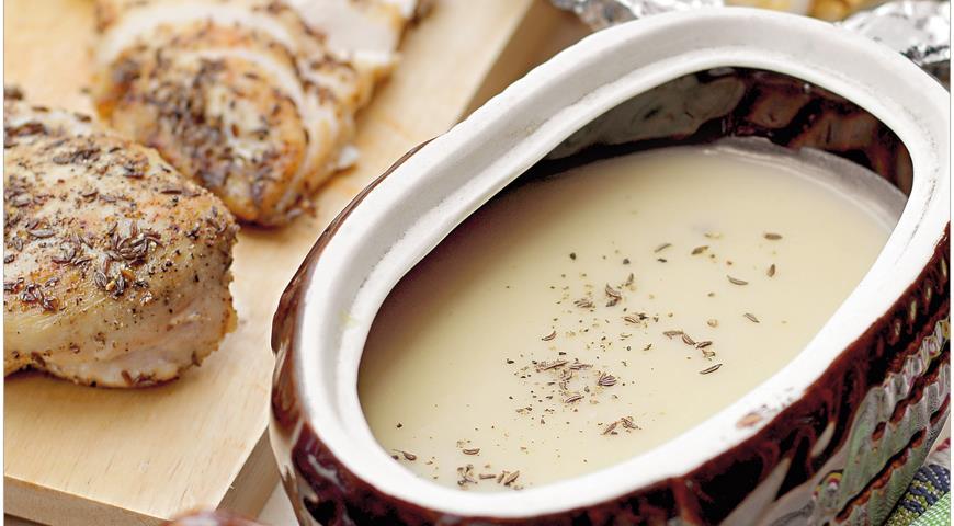 Рецепт Крем-суп из картофеля и и запеченного чеснока с куриным филе