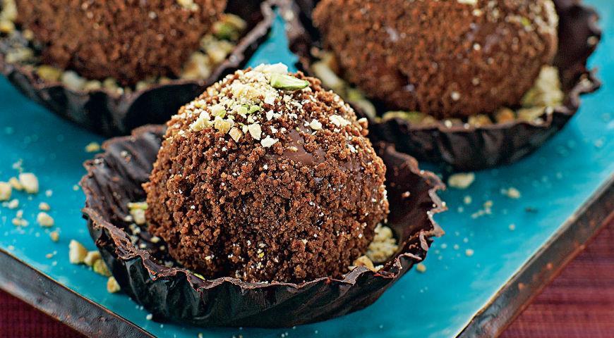 Рецепт Шоколадные розетки с сорбе