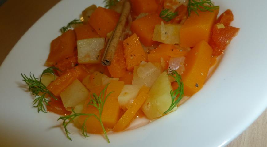 Рецепт Овощное рагу с тыквой и корицей