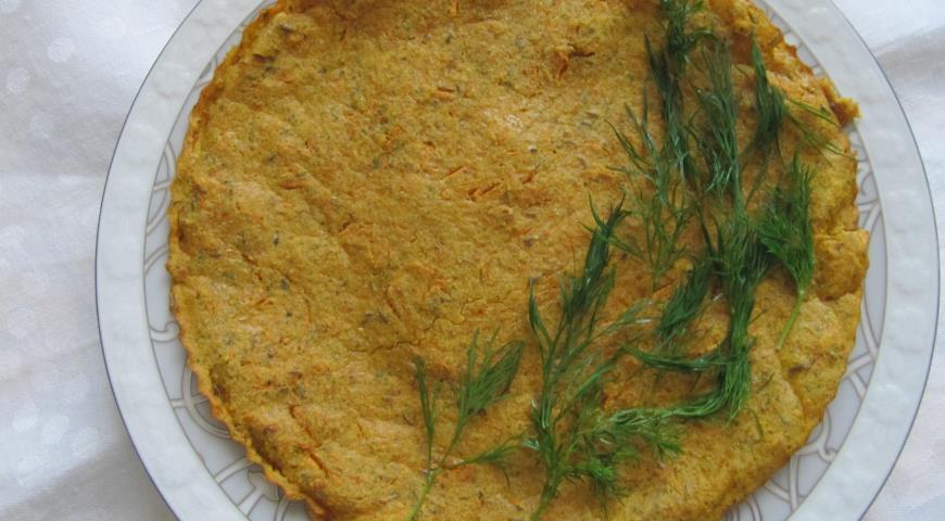 Рецепт Гороховая лепешка с морковкой