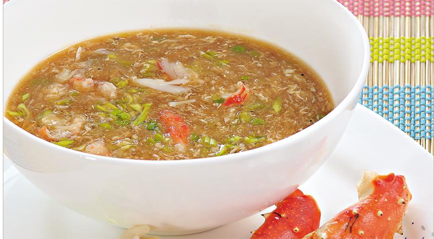 Рецепт Яичный суп с крабами