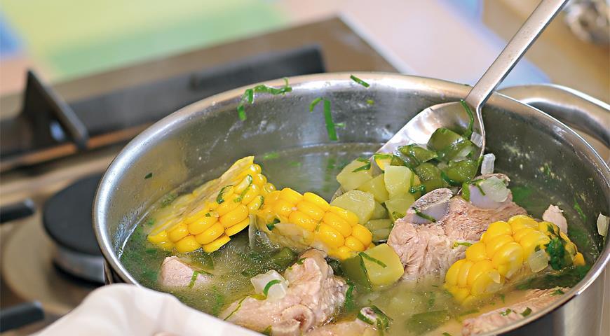 Рецепт Суп из кресс-салата с Канарских островов