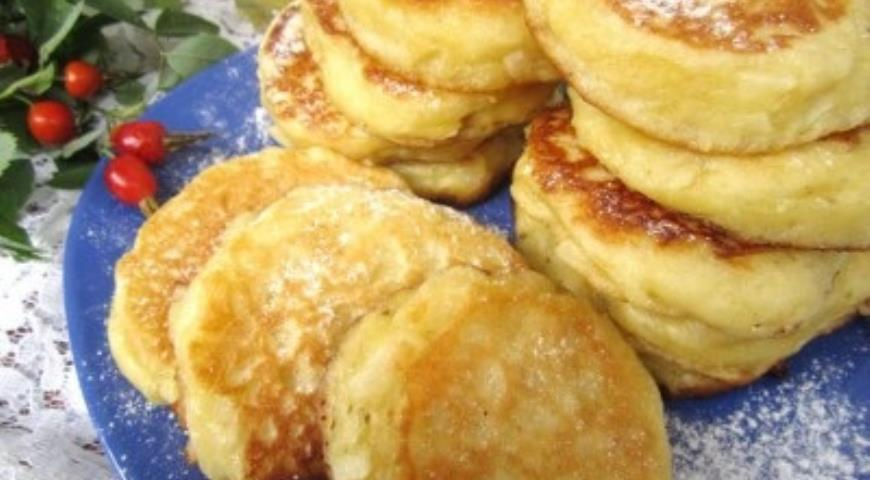 Рецепт Постные оладьи с яблоками