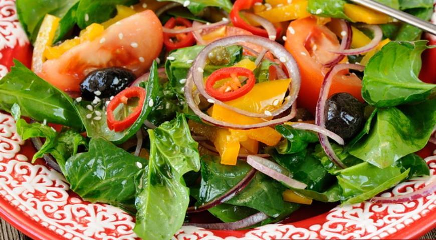 шпинат с овощами рецепт-хв2