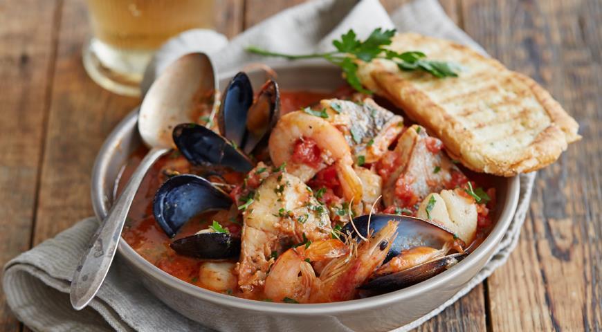 Рецепт Морепродукты в томатном соусе