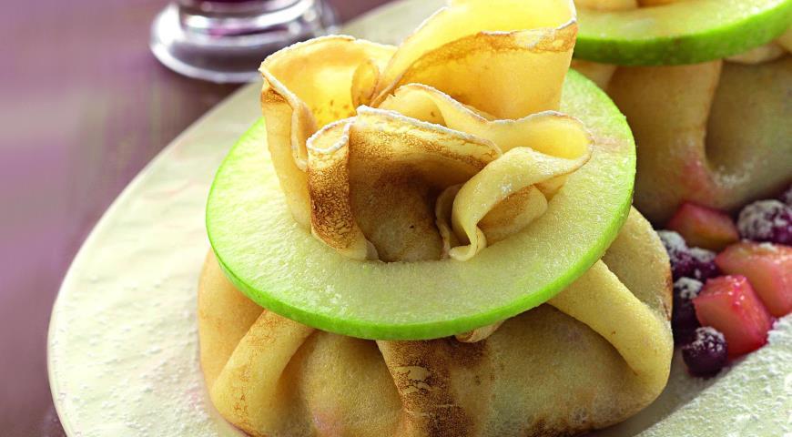Рецепт Мешочки с яблочной начинкой