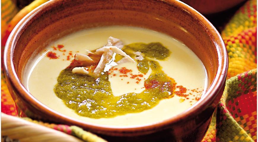 Рецепт Вишисуаз с курицей и луковым маслом