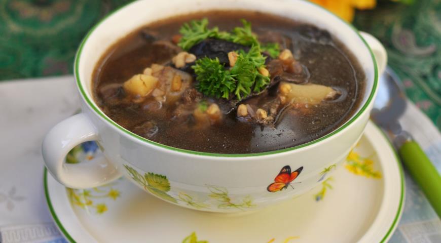 Рецепт Грибной суп с булгуром