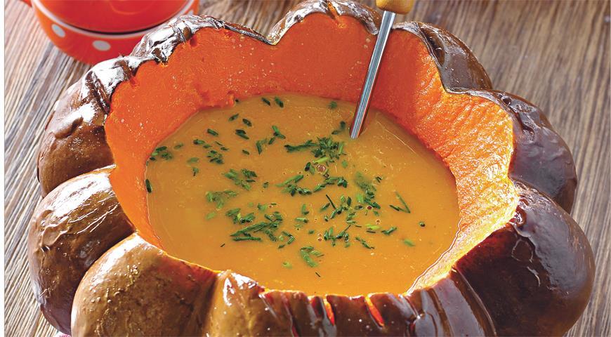 Рецепт Тыквенный суп с арахисовой пастой