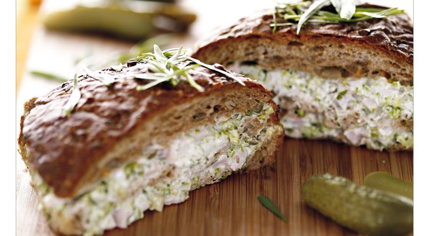 Рецепт Сэндвич с брокколи и ветчиной