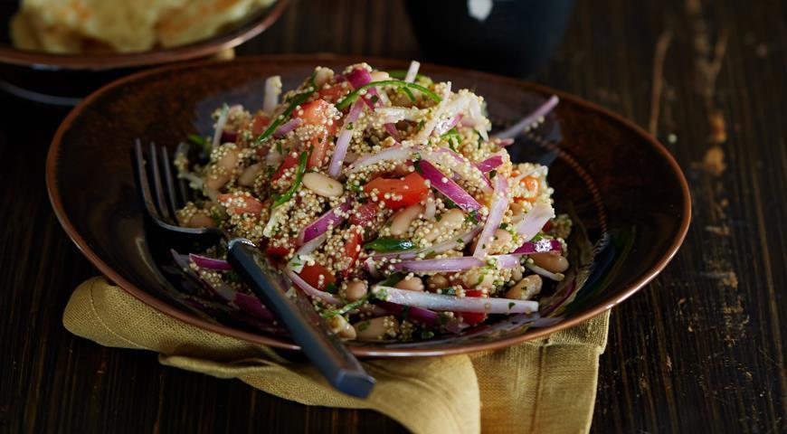Рецепт Перуанский салат из фасоли лима и киноа