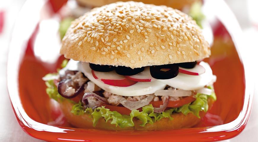 Рецепт Средиземноморский сэндвич с тунцом