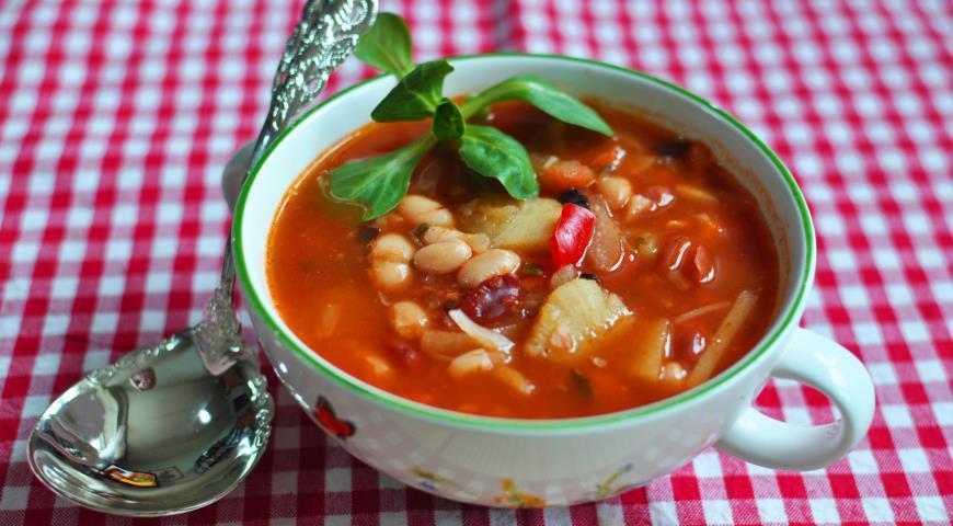Рецепт Постный греческий суп Фасолада