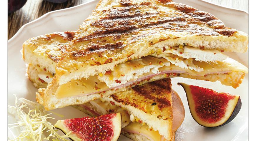 Рецепт Французский сэндвич «в шубе»