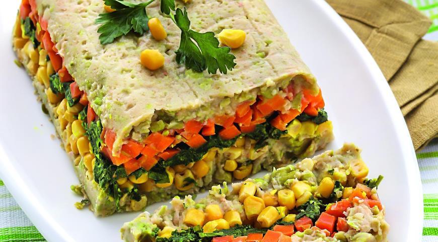 Рецепт Закуска из фасоли и овощей