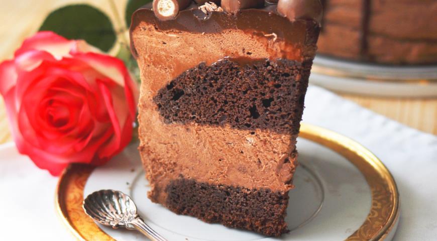 Рецепт Муссовый торт с шоколадными коржами и Нутеллой