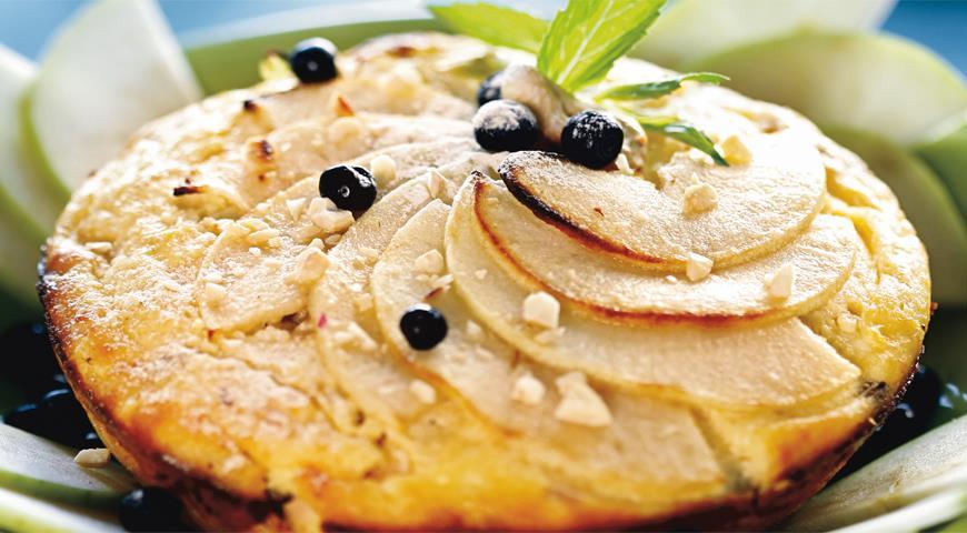 Рецепт Яблочная запеканка с кешью