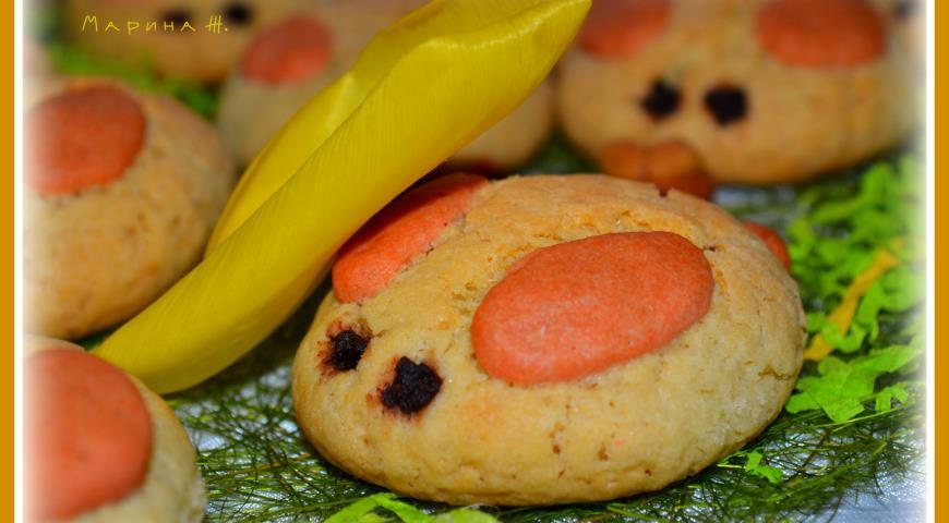 Печенье зайчики рецепт пошагово