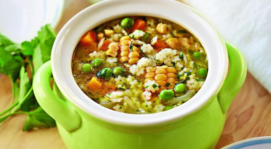 Рецепт Овощной суп с мелкой пастой