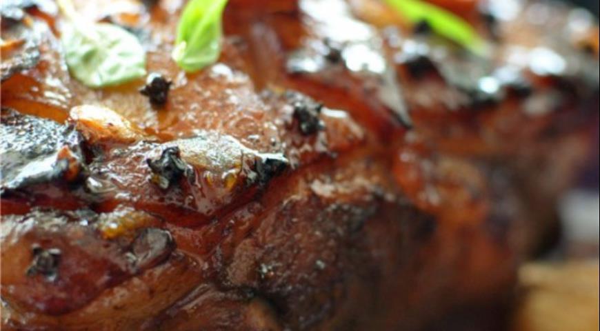 Рецепт Карамелизованная свинина в пиве