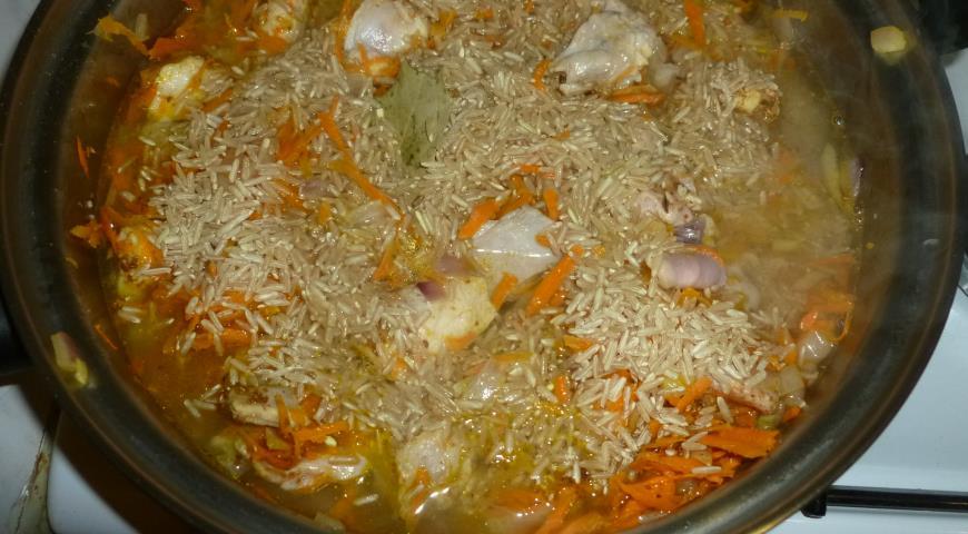 плов с рисом и мясом рецепт