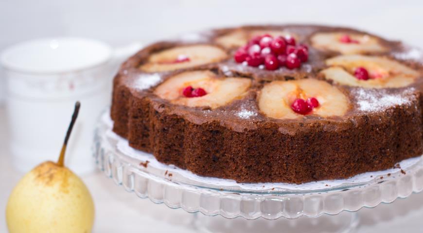 шоколадный торт с грушей рецепт