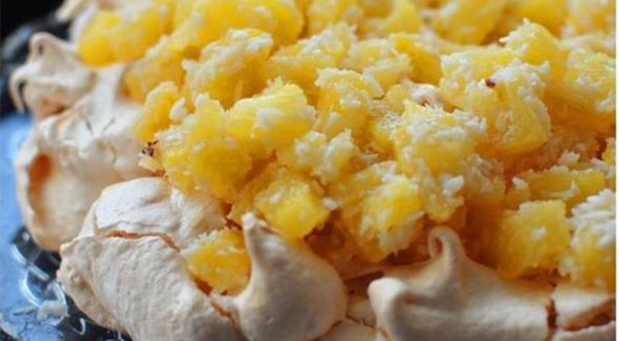 Невесомый торт-безе - Пина Колада, пошаговый рецепт с фото