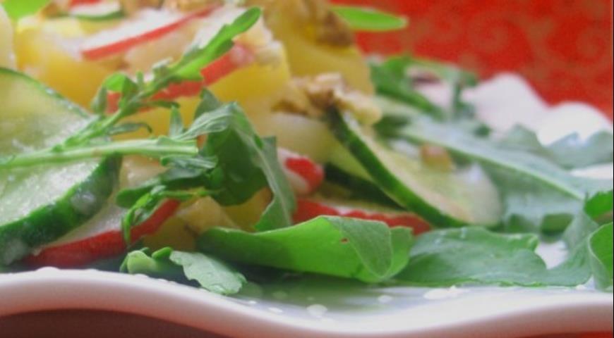 салат с хрустящий рецепт с фото