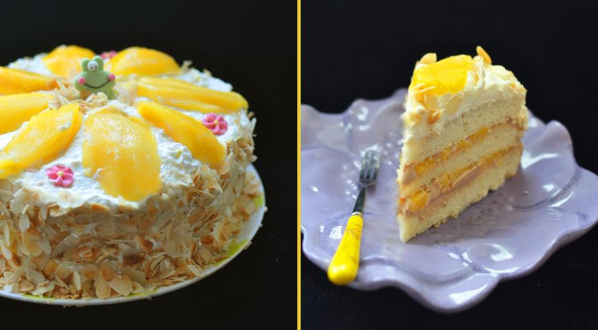 Рецепт Манговый торт с нежным кремом