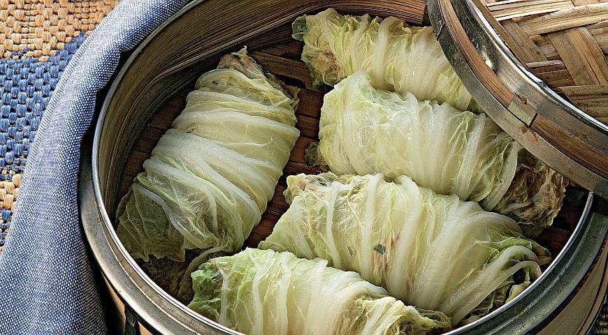 Рецепт Трубочки из капусты со свининой