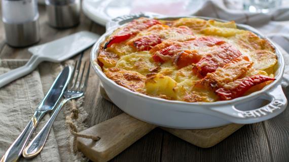 Запеканка из сладкого перца с ветчиной и сыром, пошаговый рецепт с фото