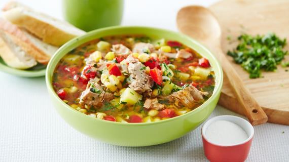 Суп из тунца с овощами, пошаговый рецепт с фото