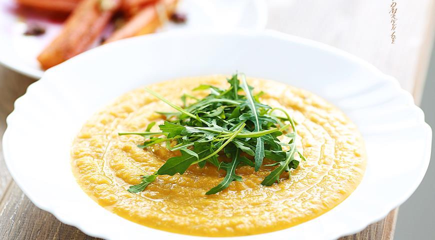 Рецепт Крем - суп с красной чечевицей и руккулой