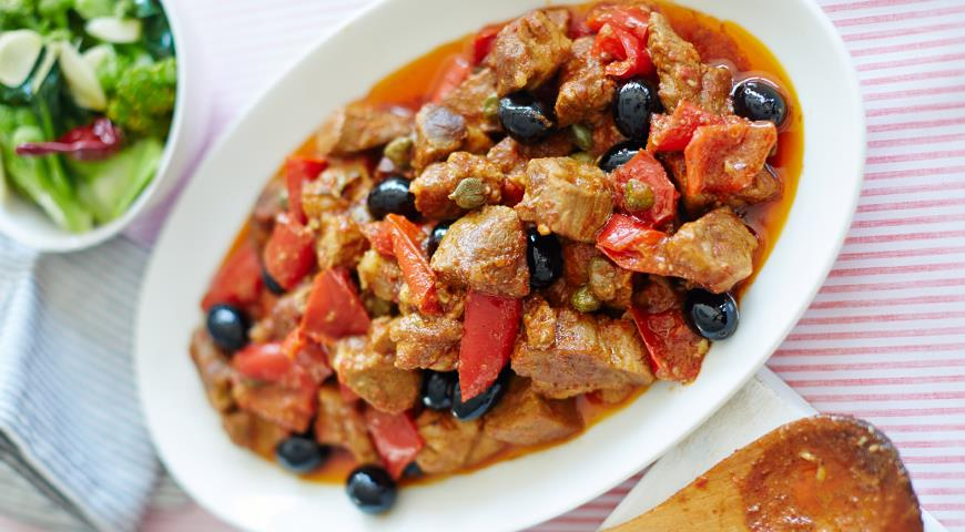 Рецепт Софритто, рагу из свинины с паприкой