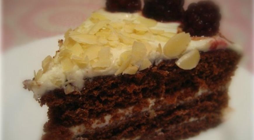 """Рецепт Торт """" Шоколадная ягодка"""" с маскарпоне"""