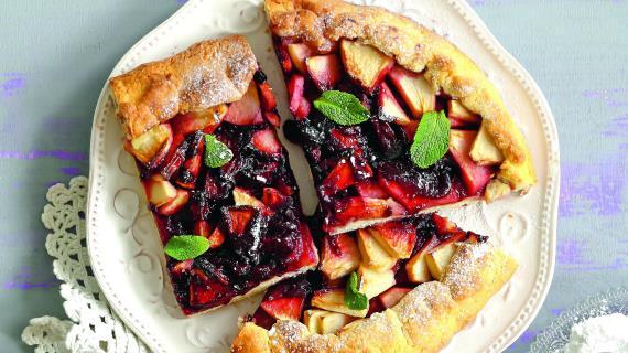 Пирог с яблоками и вареньем, видео рецепт