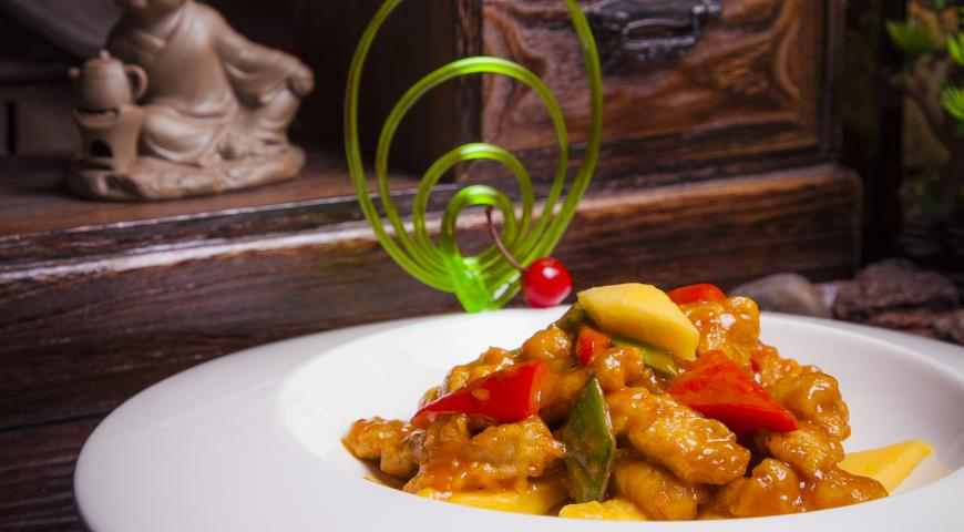 Рецепт Курица с манго