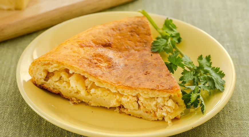 Рецепт Творожно-сырный пирог