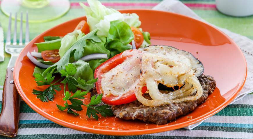 Рецепт Отбивные из баранины с помидорами и баклажанами